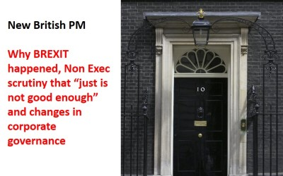 Insightful comments by next British PM on BREXIT, changes in corporate governance.